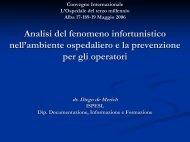 Analisi del fenomeno infortunistico nell'ambiente ospedaliero e la ...
