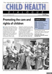 Child Health Dialogue : Promoting the care and rights of ... - sygdoms