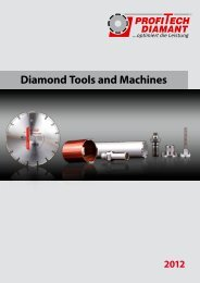 Diamond Tools and Machines - Profi-Tech-Diamant Werkzeuge GmbH