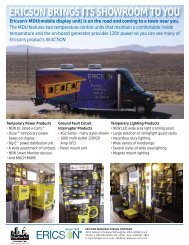 View Ericson Mobile Display Unit's Itinerary and product list