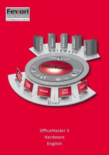 OfficeMaster 3 Hardware English - Ferrari electronic AG