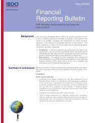 Financial Reporting Bulletin - UK.COM