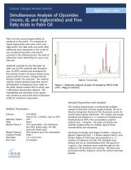 Simultaneous Analysis of Glycerides and Free Fatty Acids in Palm Oil