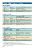 Minato City Sports Center Guide - Page 2