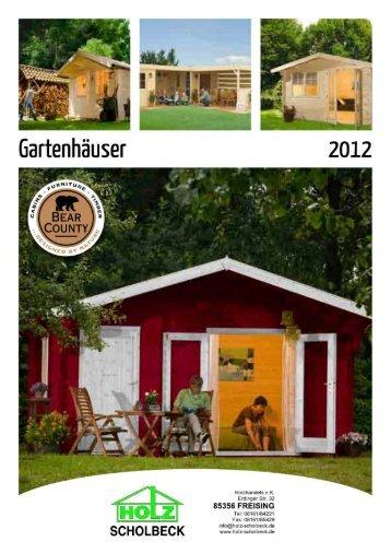 Gartenhäuser - Holz-Scholbeck