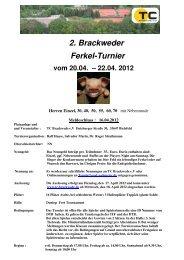 Ausschreibung 2. Ferkelturnier 2012