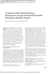A model for public health workforce development using the ... - ppmrn