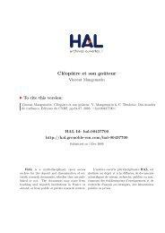 [hal-00437700, v1] Cléopâtre et son goûteur - Grenoble EM :: Accueil