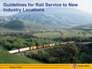 Guidelines for Rail Service to New Industry Locations