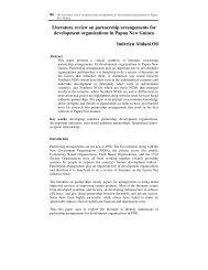 Literature review on partnership arrangements for ... - Informit