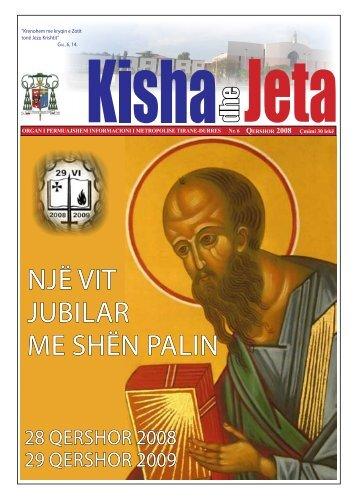 njË VIT jUBILAR ME SHËn PALIn - kishadhejeta.com