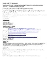 January 2013 Media Summary - The Banks Public Partnership