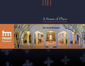 Heard Museum Private Event Brochure