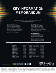 KEY INFORMATION MEMORANDUM - Anjali Investment & Consultant