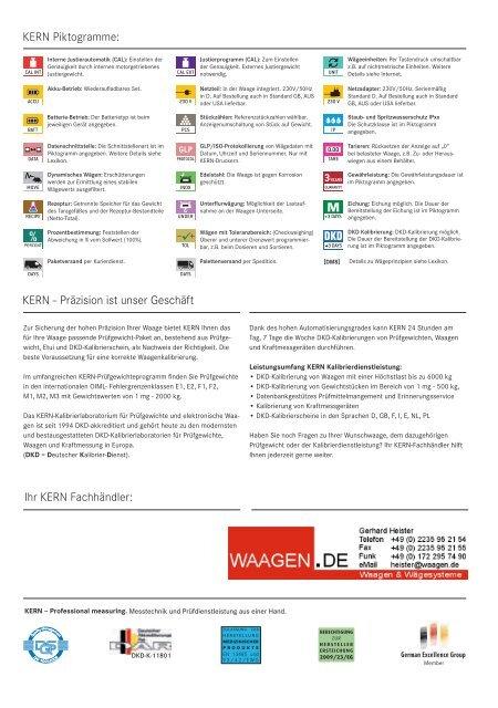 Siehe SONDER-PROSPEKT - Waagen.de