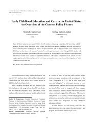 Early Childhood Education and Care in the United States: An ...
