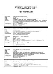 daybreak in detention 2005 regional events log new south ... - unhcr