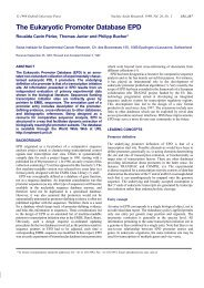 The Eukaryotic Promoter Database EPD - Nucleic Acids Research