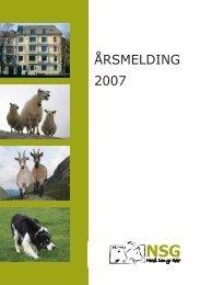 ÅRSMELDING 2007 - Norsk Sau og Geit