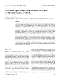Effect of degree of fluid saturation on transport ... - ResearchGate