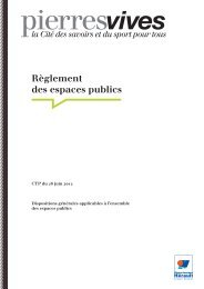 Règlement des espaces publics - pierresvives - Conseil Général de ...