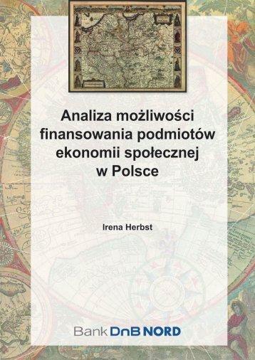 Analiza możliwości finansowania podmiotów ekonomii społecznej w ...
