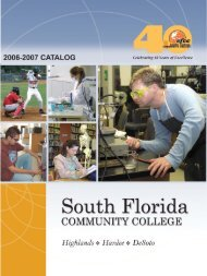 2006-07 College Catalog - South Florida State College
