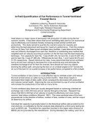 In-Field Quantification of Fan Performance in Tunnel-Ventilated ...