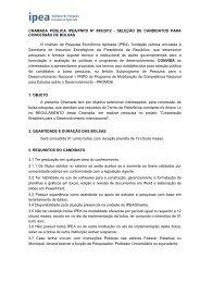 Chamada Pública nº 095/2012 - Ipea