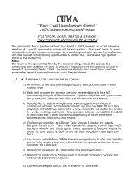 2007 Conference Sponsorship Program PLATINUM, GOLD, SILVER ...