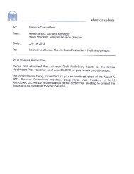 Memorandum - Tuolumne Utilities District