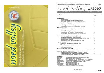n o r d volley 1/2007 - VMV
