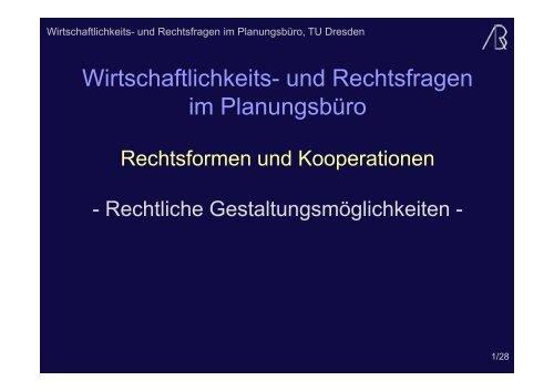 (Microsoft PowerPoint - Rechtsformen und Kooperationen 2011 ...