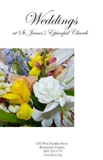 Weddings - St. James's Episcopal Church
