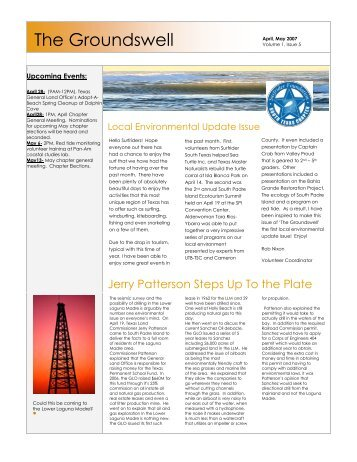 April/May 2007 Newsletter - Surfrider Foundation South Texas Chapter
