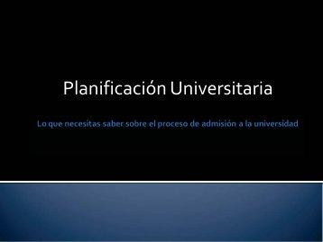 Planificación Universitaria - Da Vinci Schools