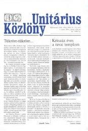 2004 - Magyarországi Unitárius Egyház