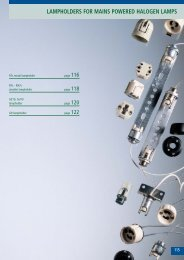 lampholders for mains powered halogen lamps - bei ARDITI GMBH