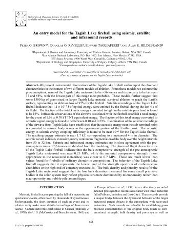Full Text - Meteor Physics Group - University of Western Ontario