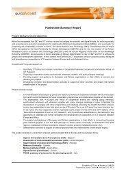 Publishable summary - EuroAfrica-ICT