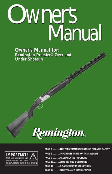 Remington Premier Over and Under Shotgun - EAA