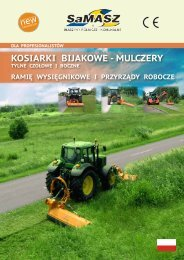 KOSIARKI BIJAKOWE - MULCZERY - SaMASZ Sp. z oo