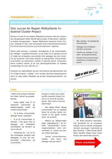 klyngeprojekt – Region Midtjylland Industrial Cluster Project
