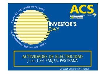 ACTIVIDADES DE ELECTRICIDAD - Grupo ACS