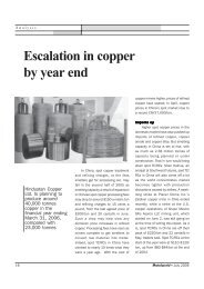 Escalation in copper by year end - Metalworld.co.in