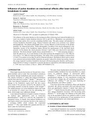 Influence of pulse duration on mechanical effects after laser-induced ...