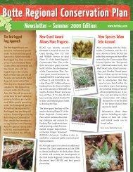 Summer 2008 Newsletter - Butte Regional Conservation Plan