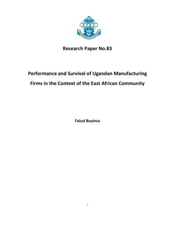 Research Paper No.83 Performance and Survival of Ugandan ...