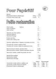 Carte L'Ours 01.11.07 - Brasserie de l'Ours