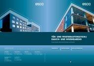 und fensterautomation/ rauch - esco Metallbausysteme GmbH